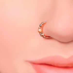 Indie Style Fake/Faux Nose Ring Lip Hoop